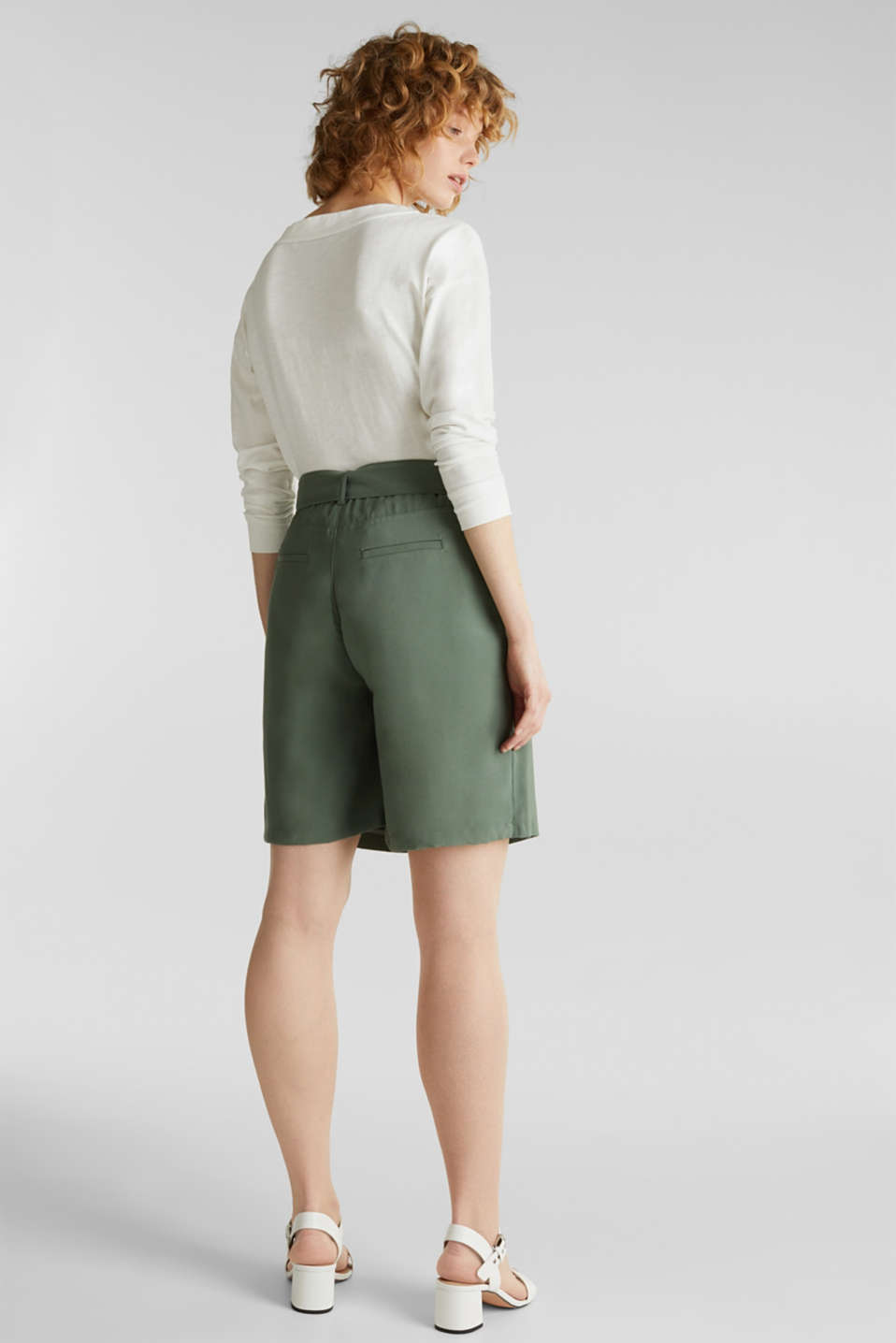 Skirt shorts in a utility look, KHAKI GREEN, detail image number 2
