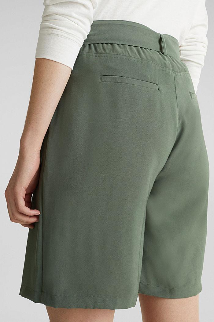 Rock-Shorts im Utility-Look, KHAKI GREEN, detail image number 4