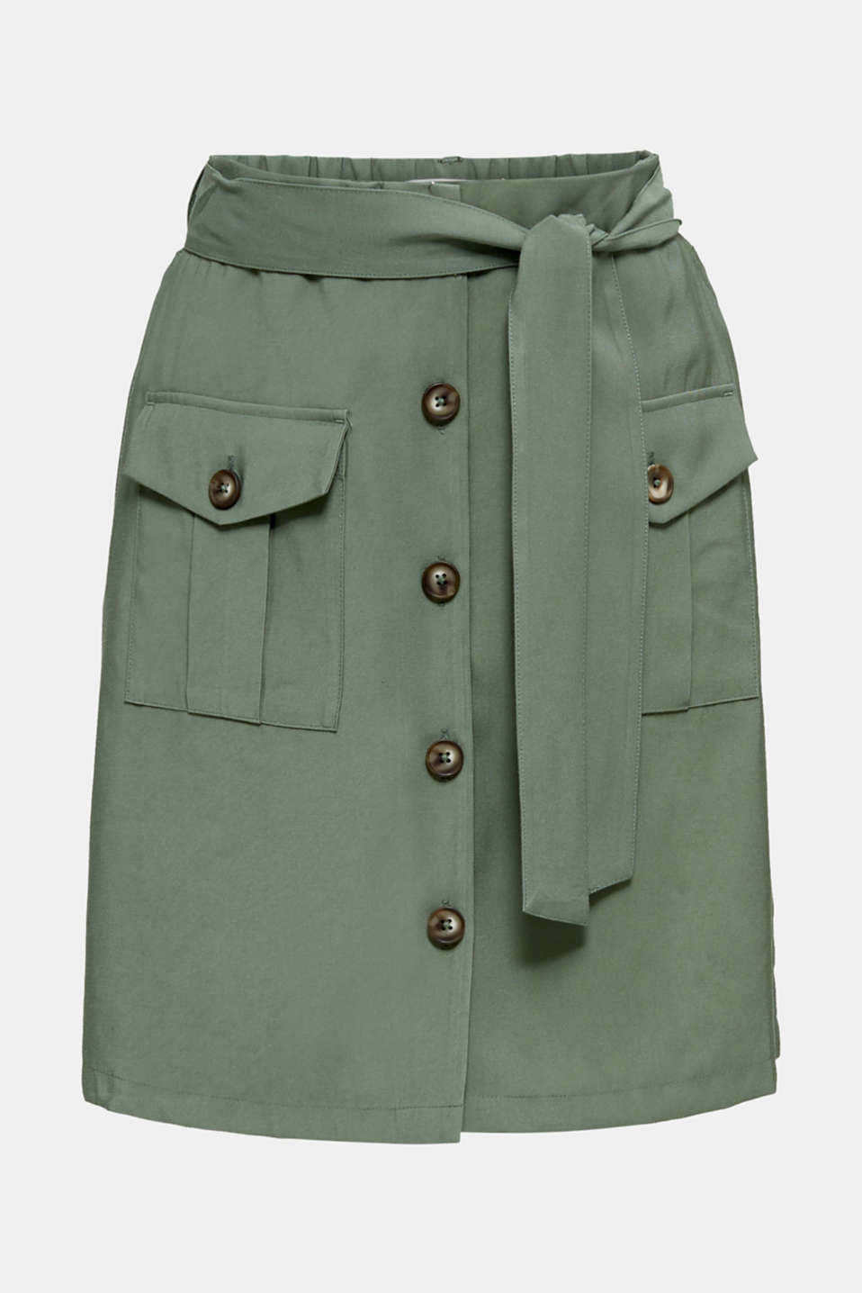Skirt shorts in a utility look, KHAKI GREEN, detail image number 6