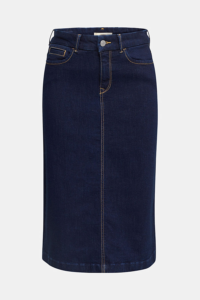 Denim skirt with stretch for comfort