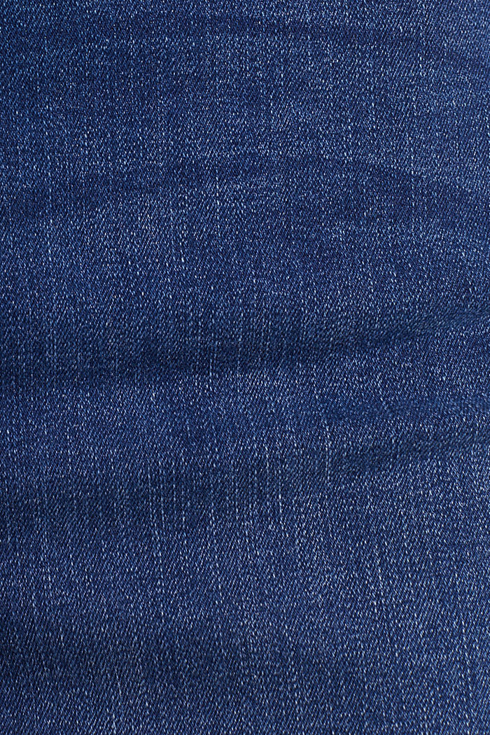 Denim rok met stretch, BLUE MEDIUM WASHED, detail image number 4