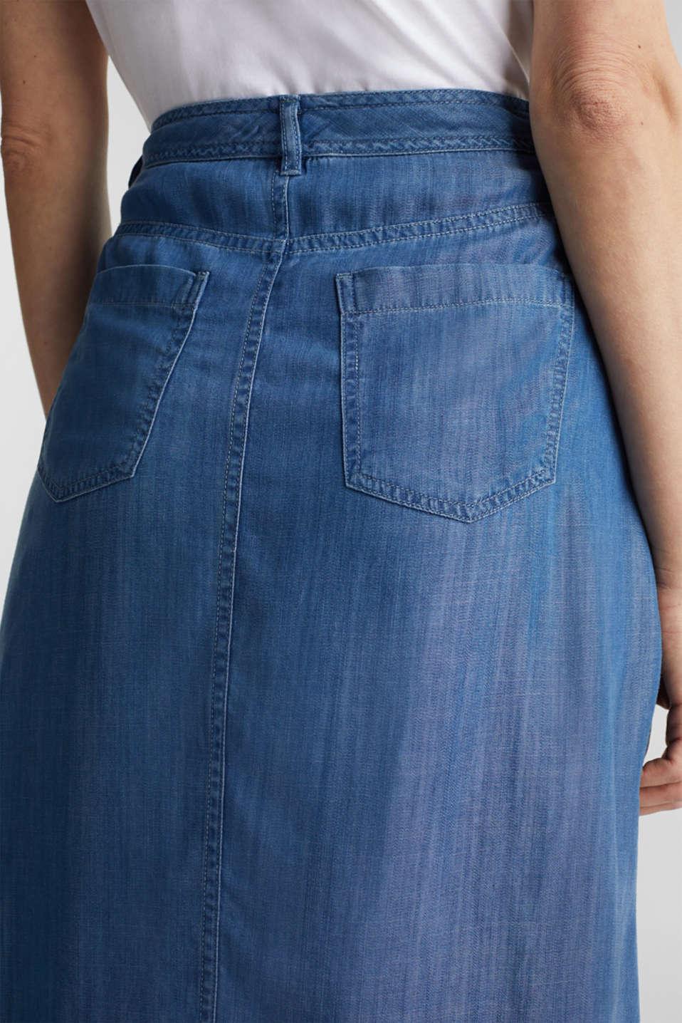 Made of TENCEL™: A-line denim skirt, BLUE MEDIUM WASH, detail image number 5