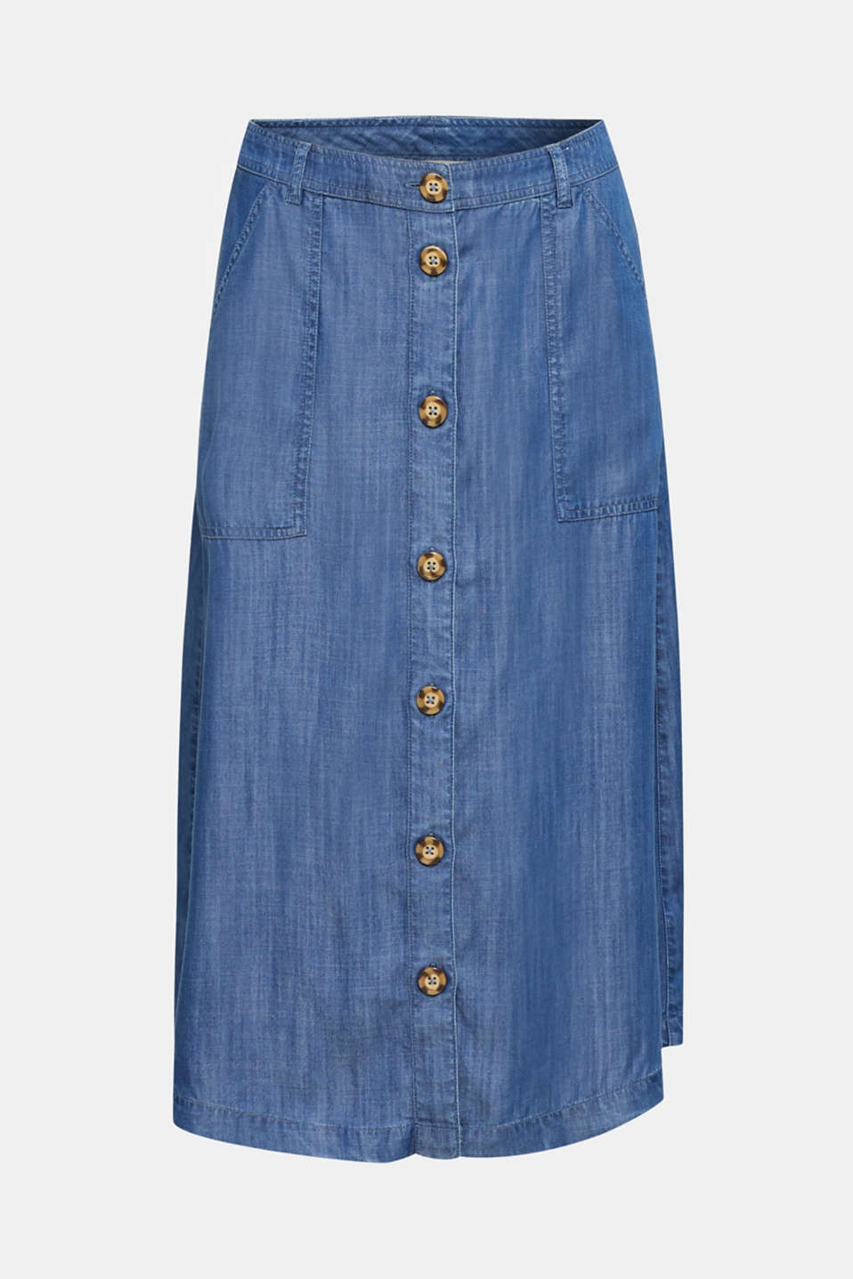 Made of TENCEL™: A-line denim skirt, BLUE MEDIUM WASH, detail image number 6