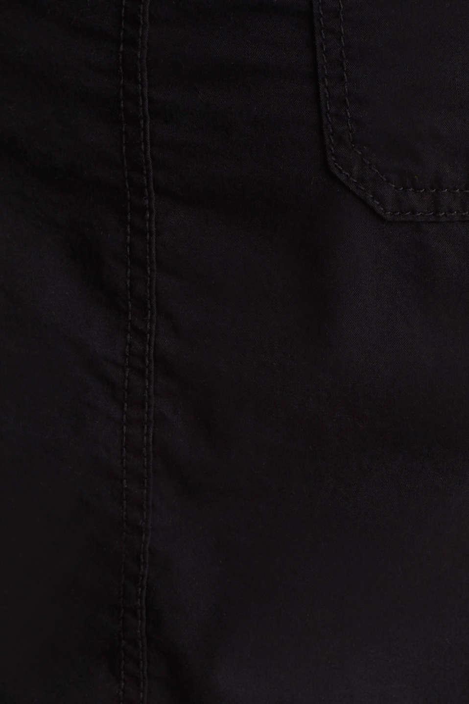 Skirt with belt, 100% organic cotton, BLACK, detail image number 4