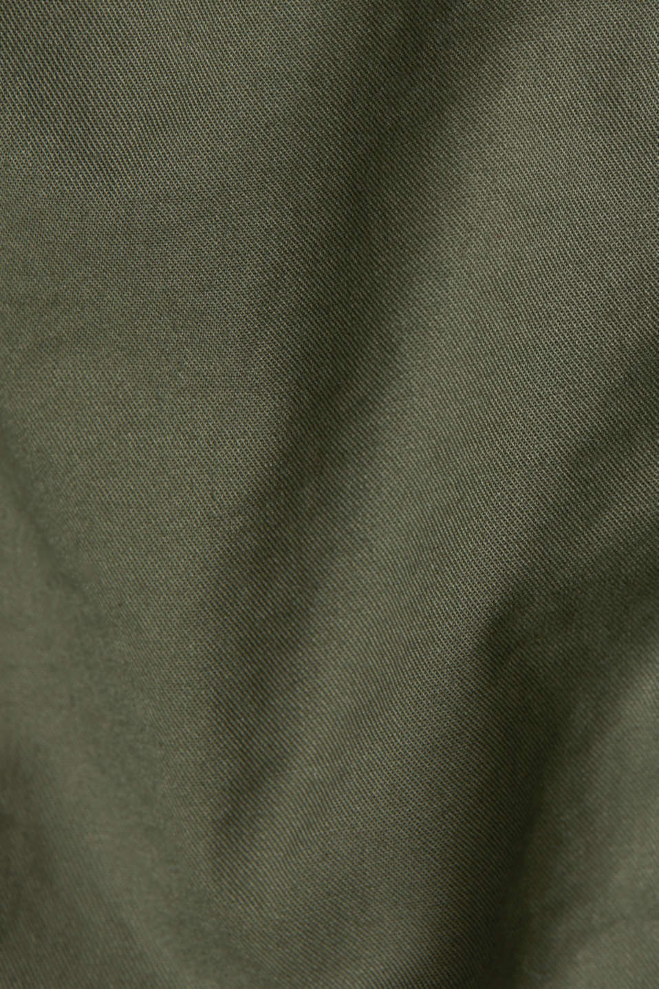 Skirt with belt, 100% organic cotton, KHAKI GREEN, detail image number 4