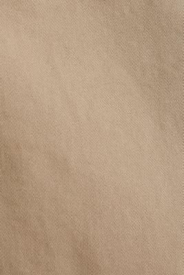Twill skirt with a high waistband, BEIGE, detail