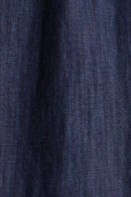 Denim tent dress made of 100% cotton, BLUE RINSE, detail