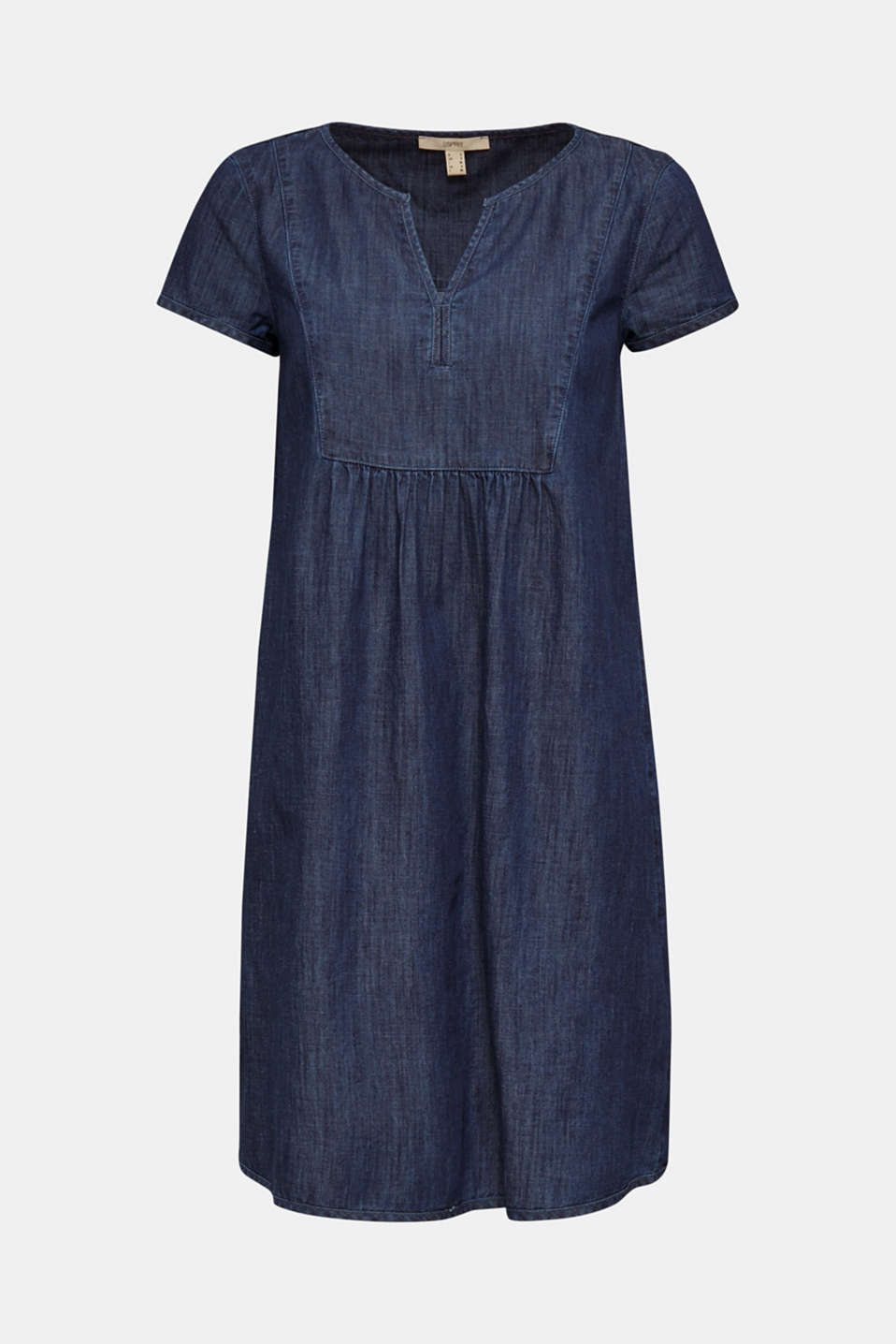 Denim tent dress made of 100% cotton, BLUE RINSE, detail image number 5