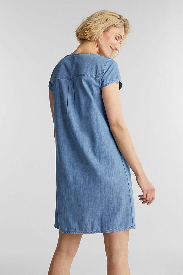 Denim jurk, 100% katoen, BLUE LIGHT WASHED, detail image number 2