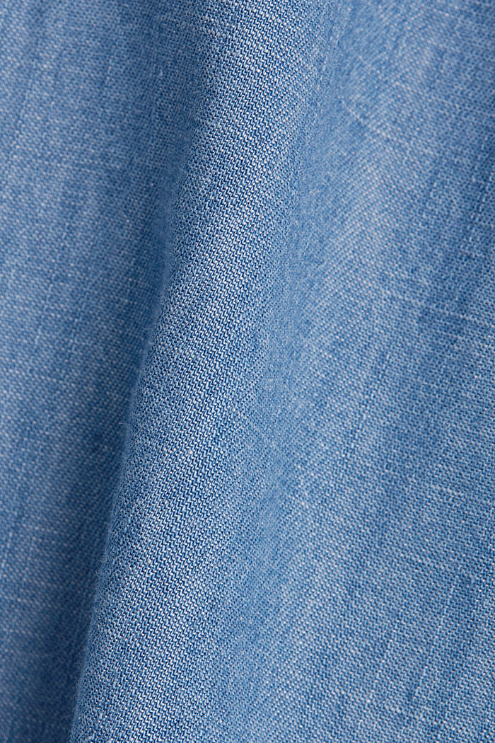 Denim jurk, 100% katoen, BLUE LIGHT WASHED, detail image number 4