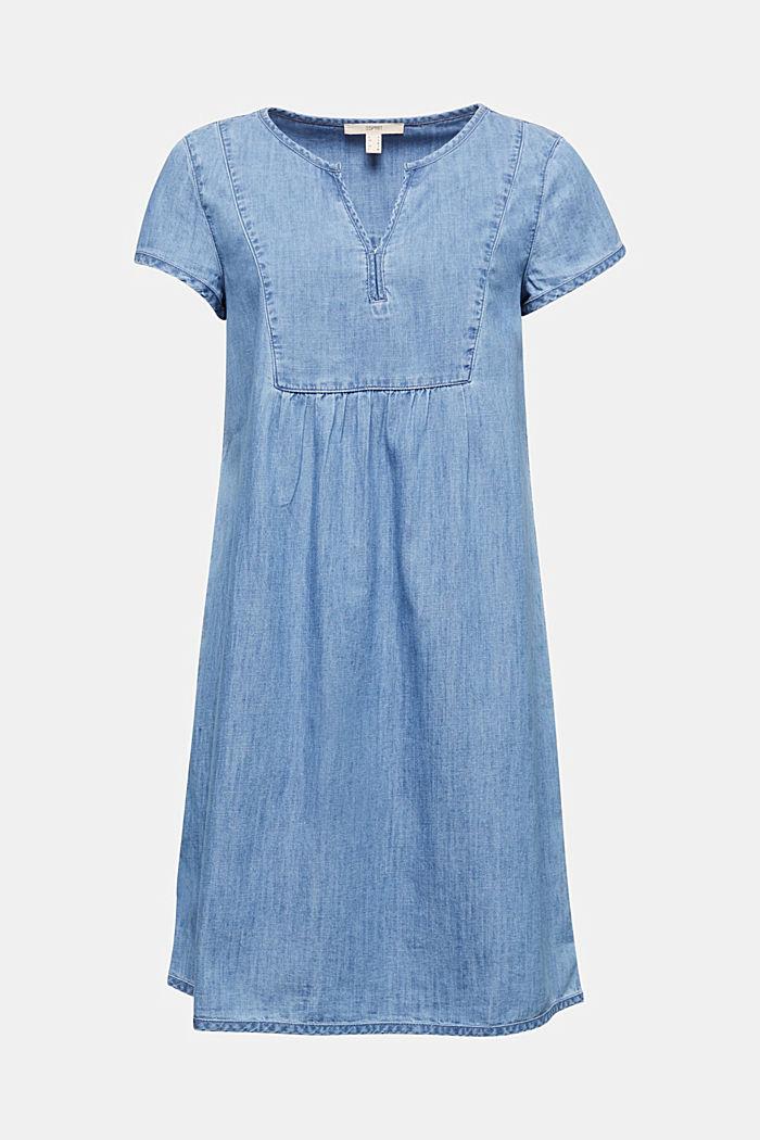 Denim jurk, 100% katoen, BLUE LIGHT WASHED, detail image number 5