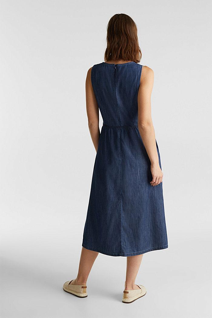 Cotton denim dress, BLUE RINSE, detail image number 2