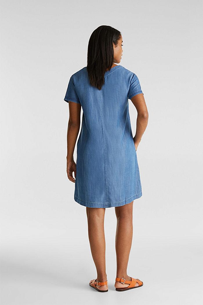 Aus TENCEL™: V-Neck-Kleid, BLUE MEDIUM WASHED, detail image number 2