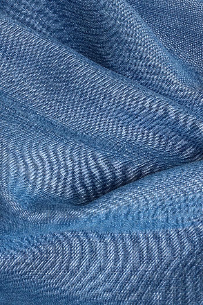 Aus TENCEL™: V-Neck-Kleid, BLUE MEDIUM WASHED, detail image number 4