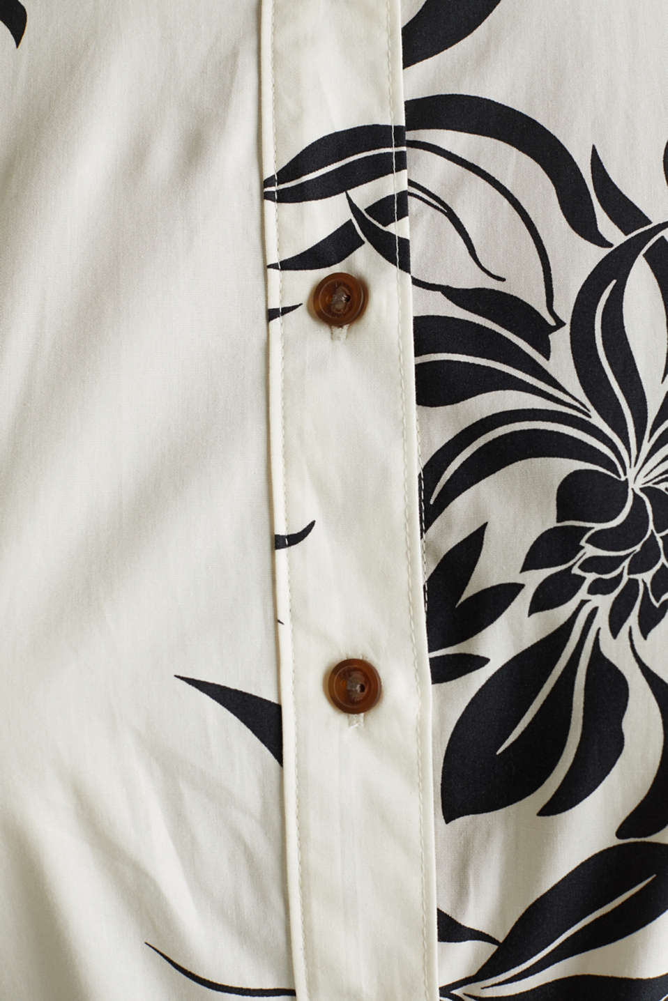 Dress with a belt, 100% cotton, OFF WHITE 4, detail image number 4