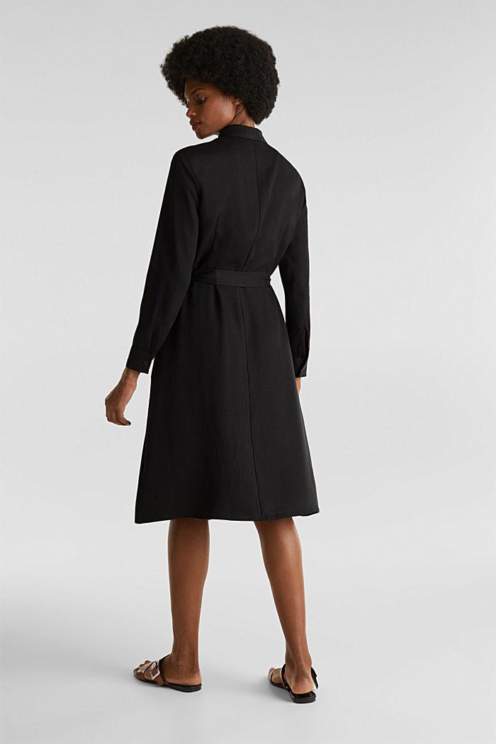 Shirt dress with a belt, lyocell, BLACK, detail image number 2