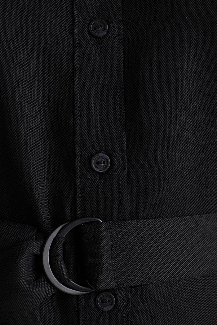 Overhemdjurk met ceintuur, lyocell, BLACK, detail image number 5