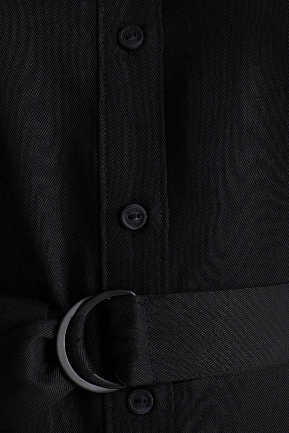 Shirt dress with a belt, lyocell, BLACK 3, detail image number 5
