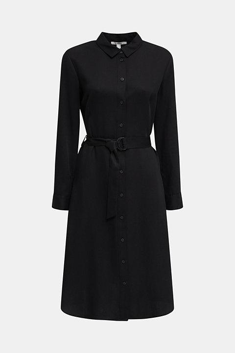 Shirt dress with a belt, lyocell