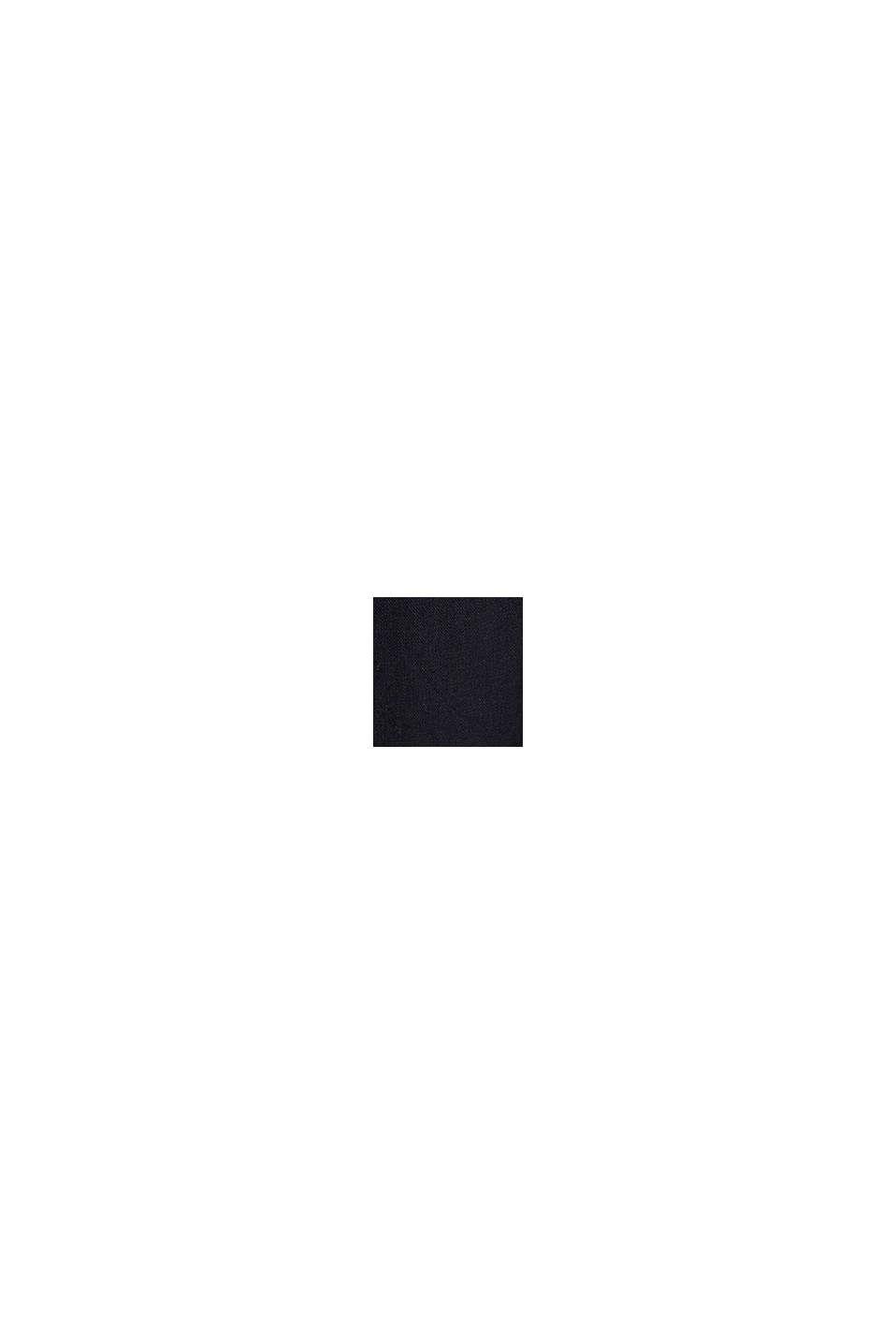 Aus Leinen-Mix: Hemdblusen-Kleid, BLACK, swatch