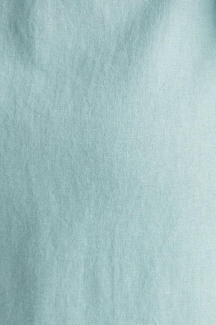 Linen blend: shirt dress, LIGHT AQUA GREEN, detail image number 4