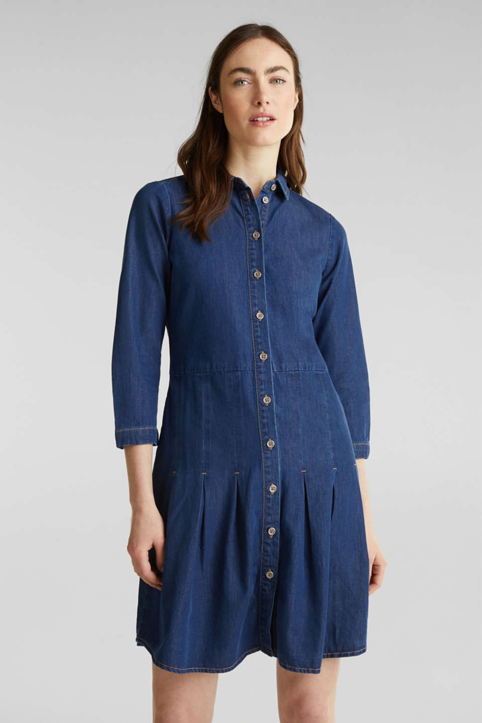 Esprit - Denim jurk, 100% organic cotton