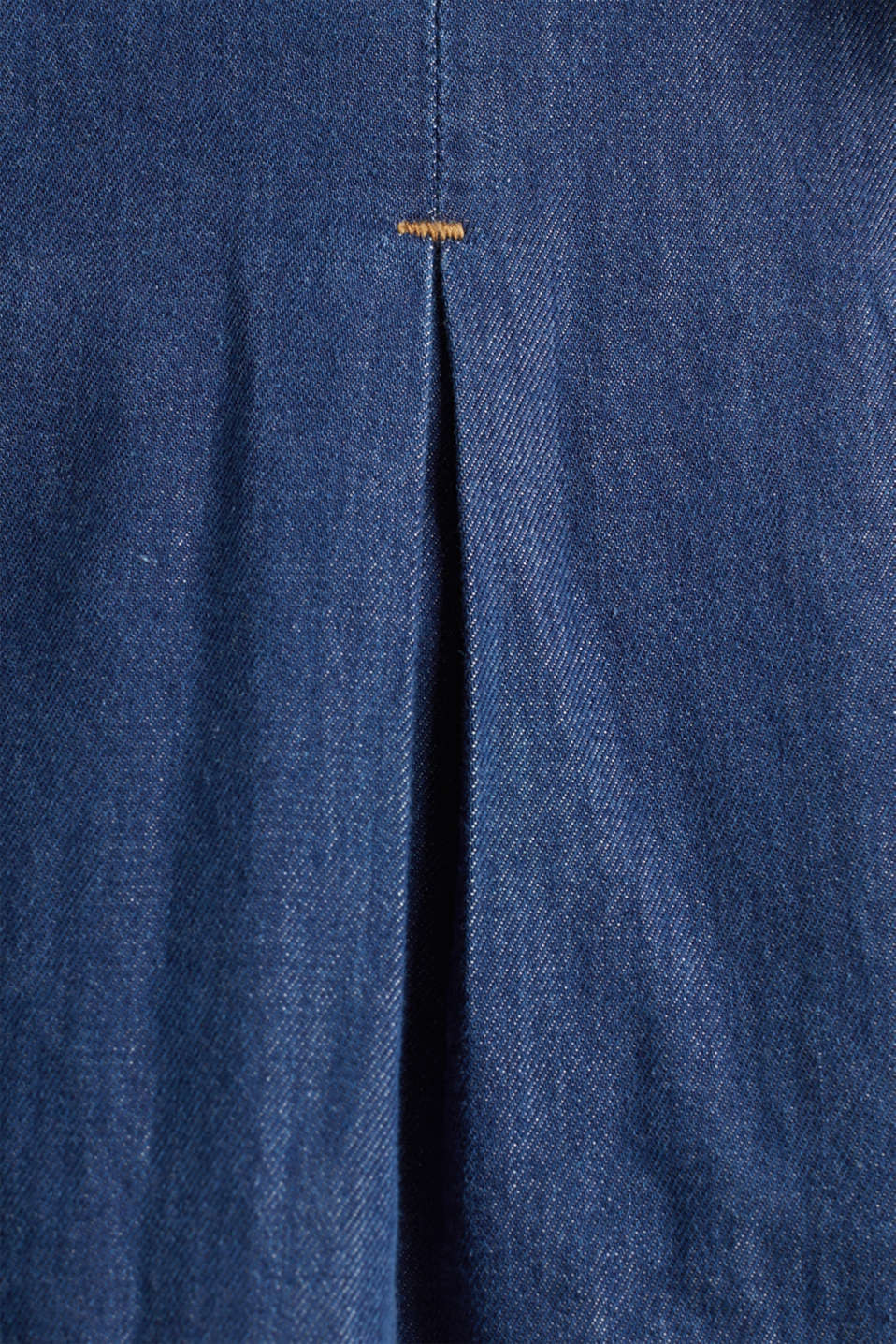 Denim shirt dress made of 100% organic cotton, BLUE MEDIUM WASH, detail image number 4