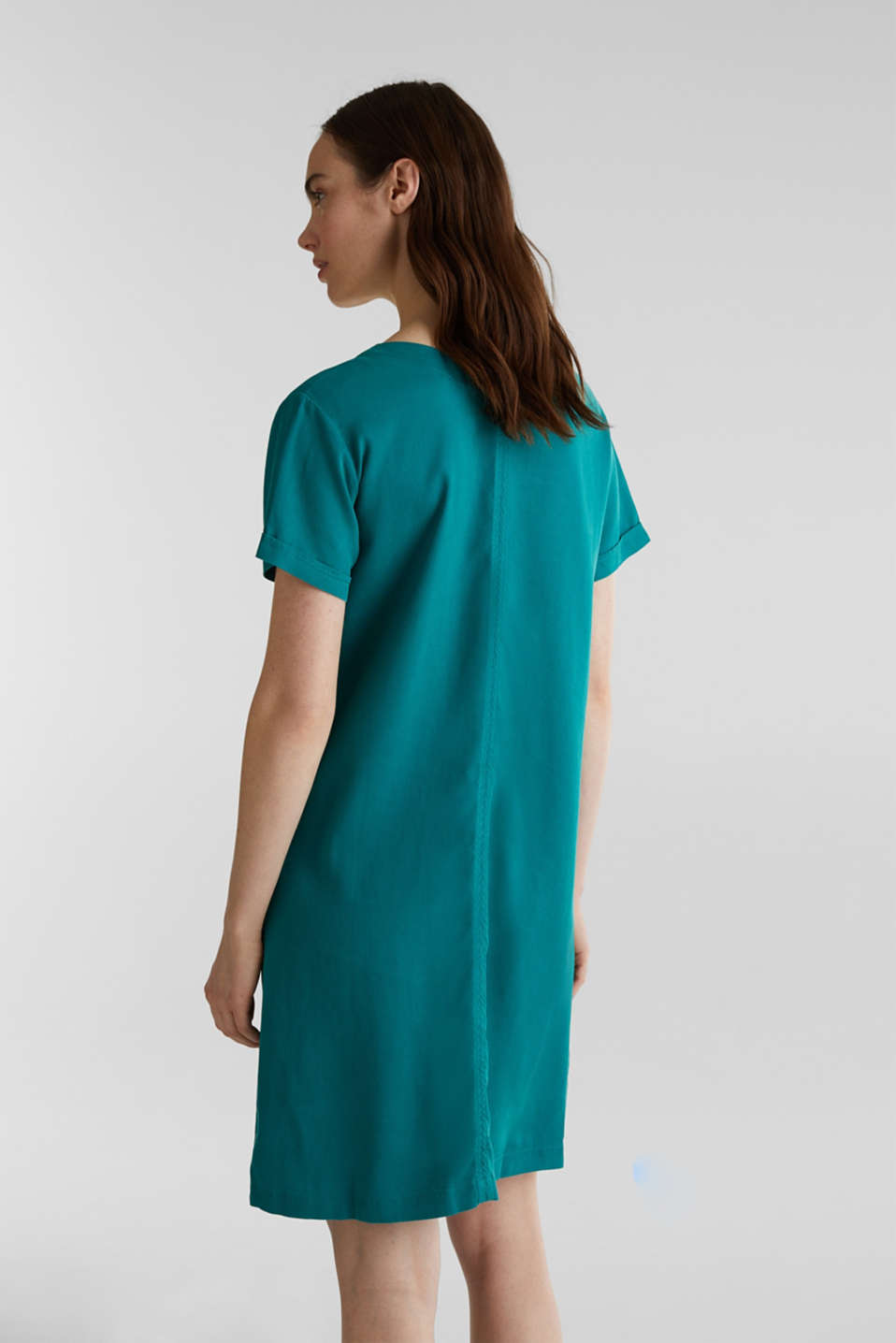 Made of TENCEL™: Dress with pockets, TEAL GREEN, detail image number 2