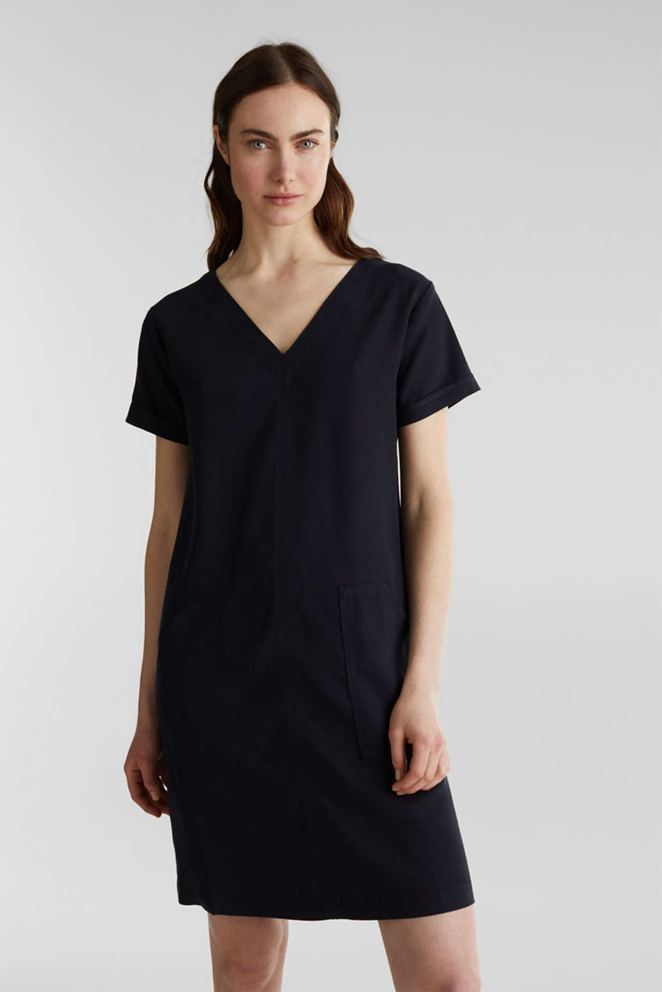 Esprit - Made of TENCEL™: Dress with pockets