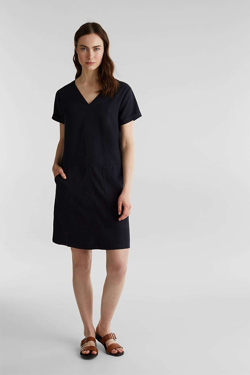 Made of TENCEL™: Dress with pockets