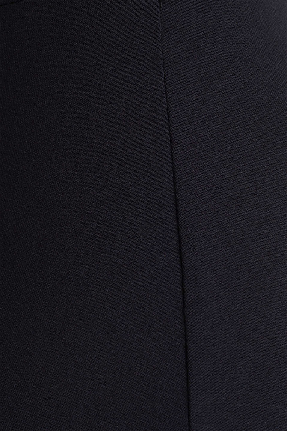 Stretch jersey dress with a wrap-over effect, BLACK, detail image number 4