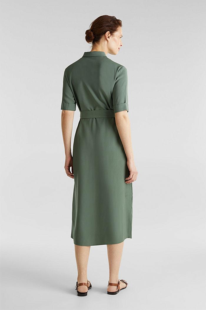 Vestido midi en estilo militar, KHAKI GREEN, detail image number 1