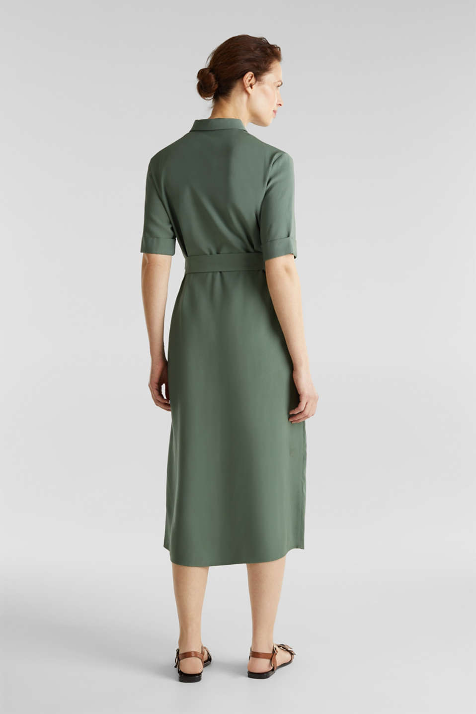 Midi dress in a utility look, KHAKI GREEN, detail image number 1