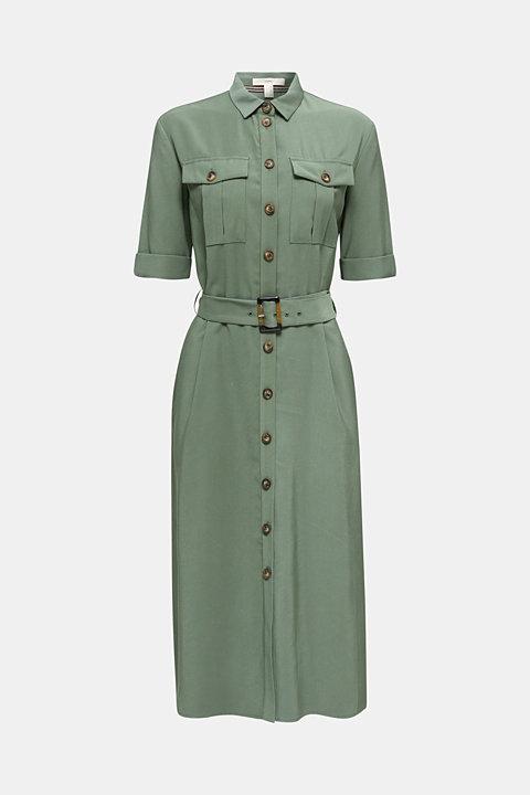 Midi dress in a utility look