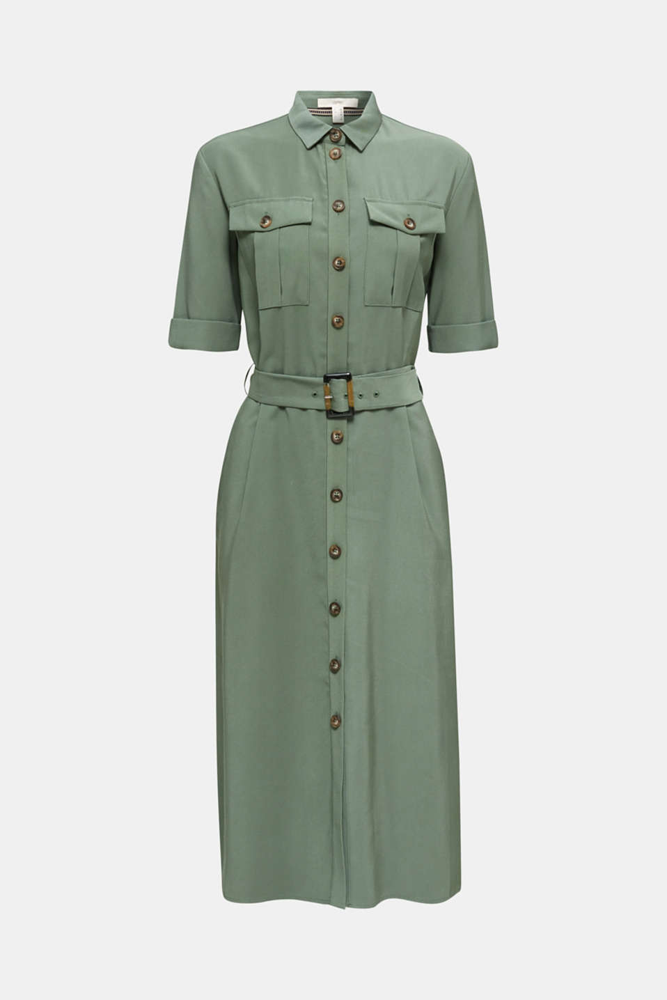 Midi dress in a utility look, KHAKI GREEN, detail image number 3