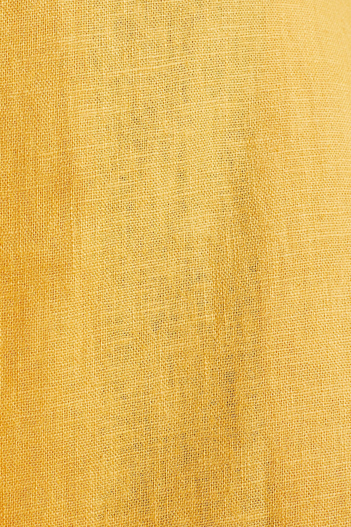 Linen blend: shirt dress, HONEY YELLOW, detail image number 4
