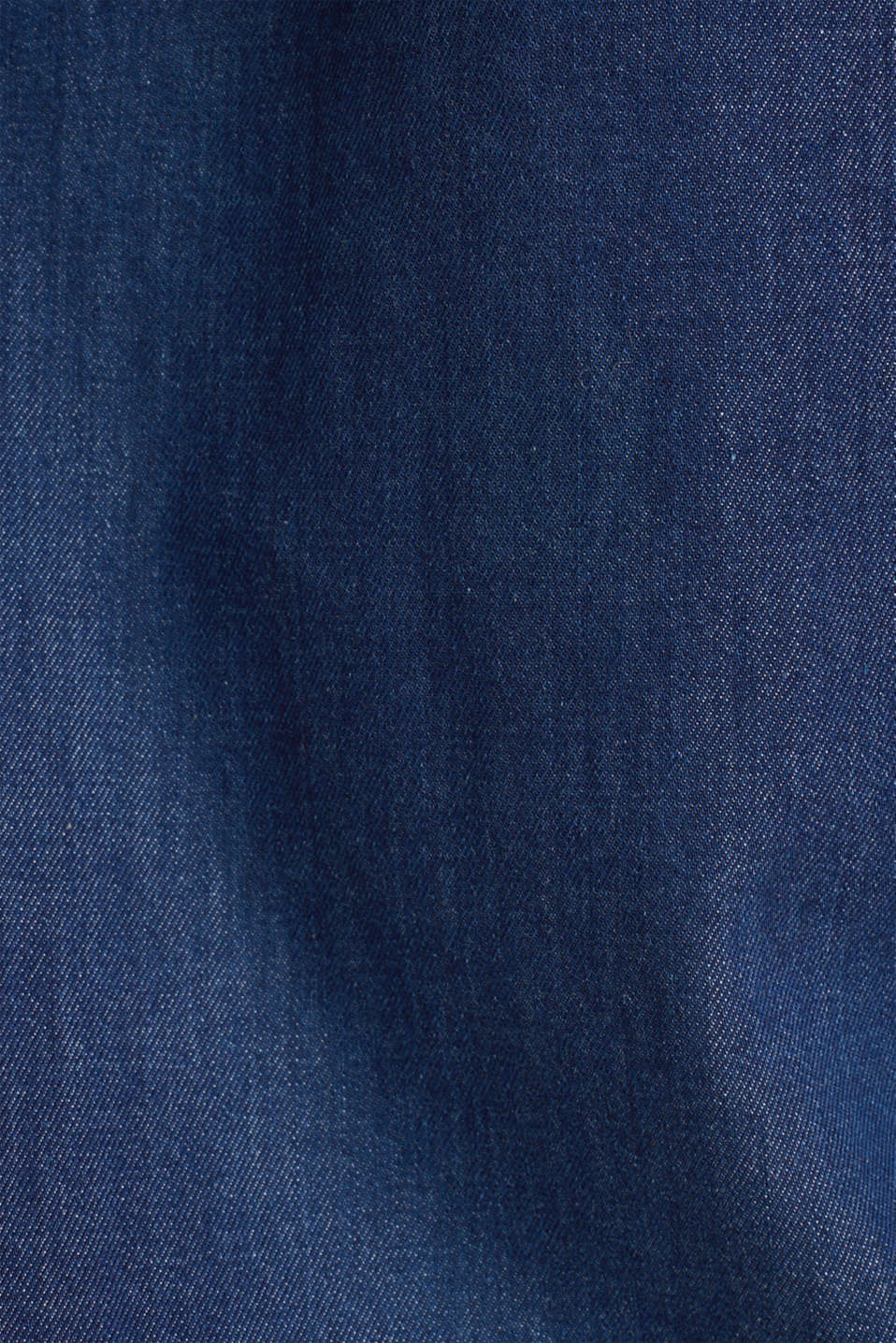 Lightweight dark denim blouse, 100% organic cotton, BLUE MEDIUM WASH, detail image number 4