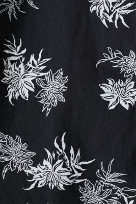 Cotton blouse with 3/4-length sleeves, BLACK 3, detail