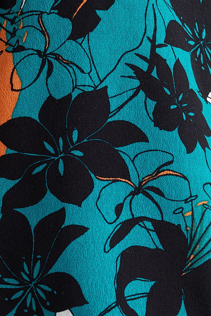 Blouse made from LENZING™ ECOVERO™, TEAL GREEN, detail image number 4