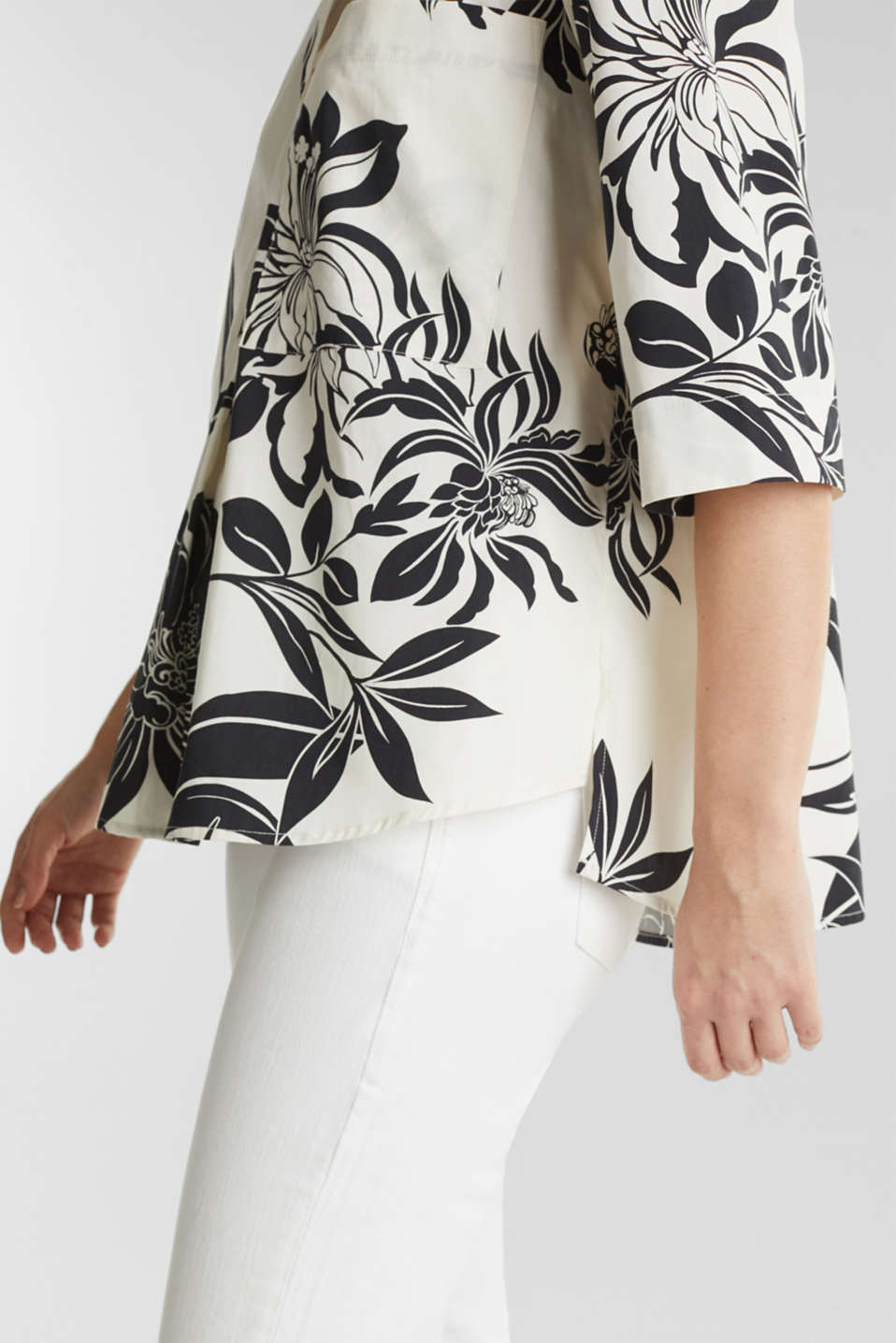 Tunic with print, 100% cotton, OFF WHITE 4, detail image number 5