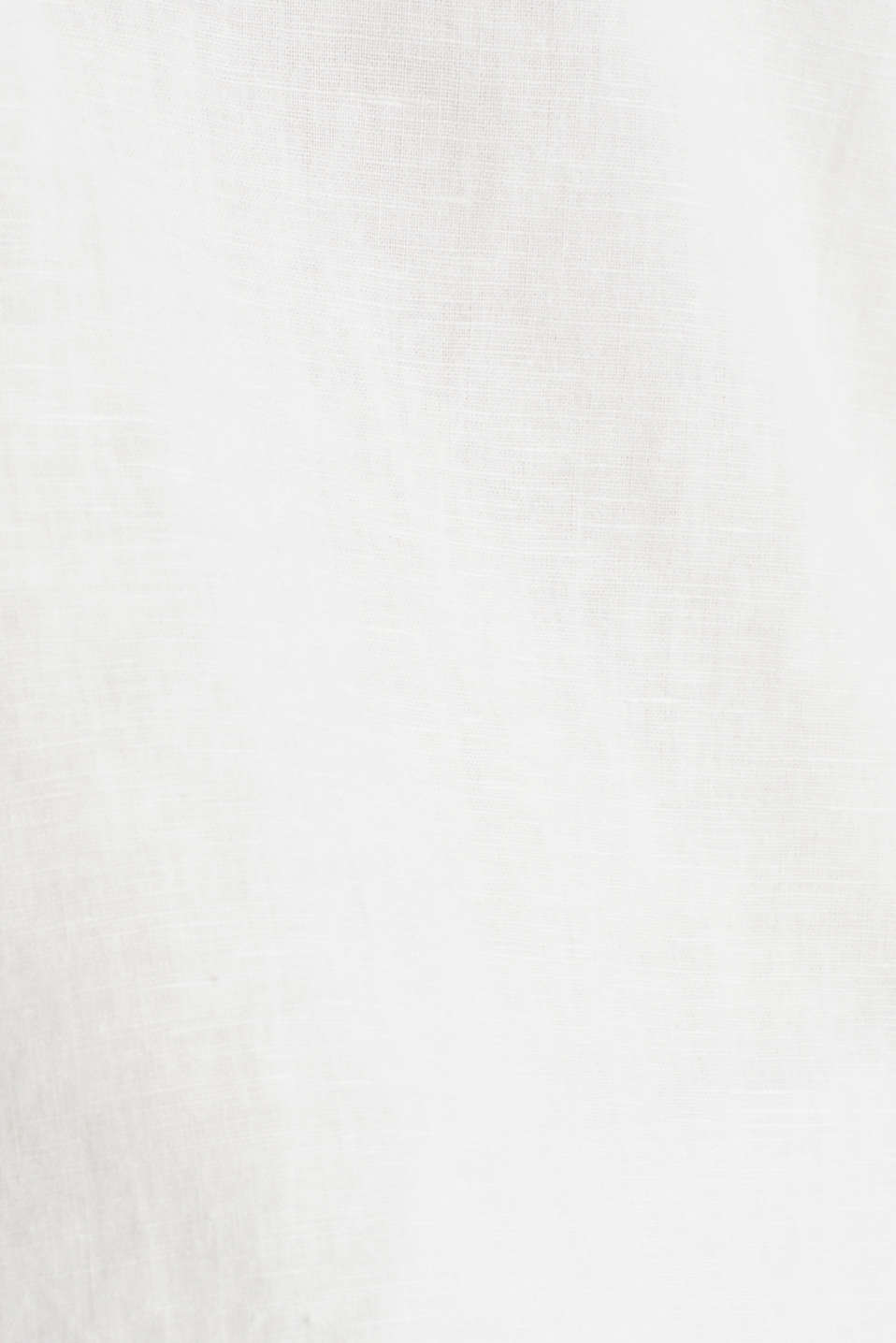 Made of blended linen: Henley blouse, OFF WHITE, detail image number 4