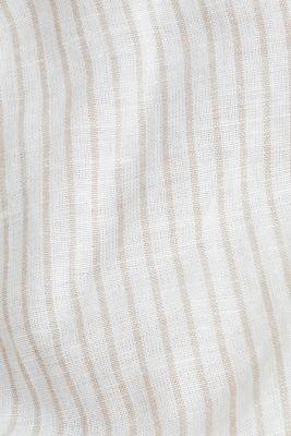 Linen blend: striped blouse, BEIGE, detail