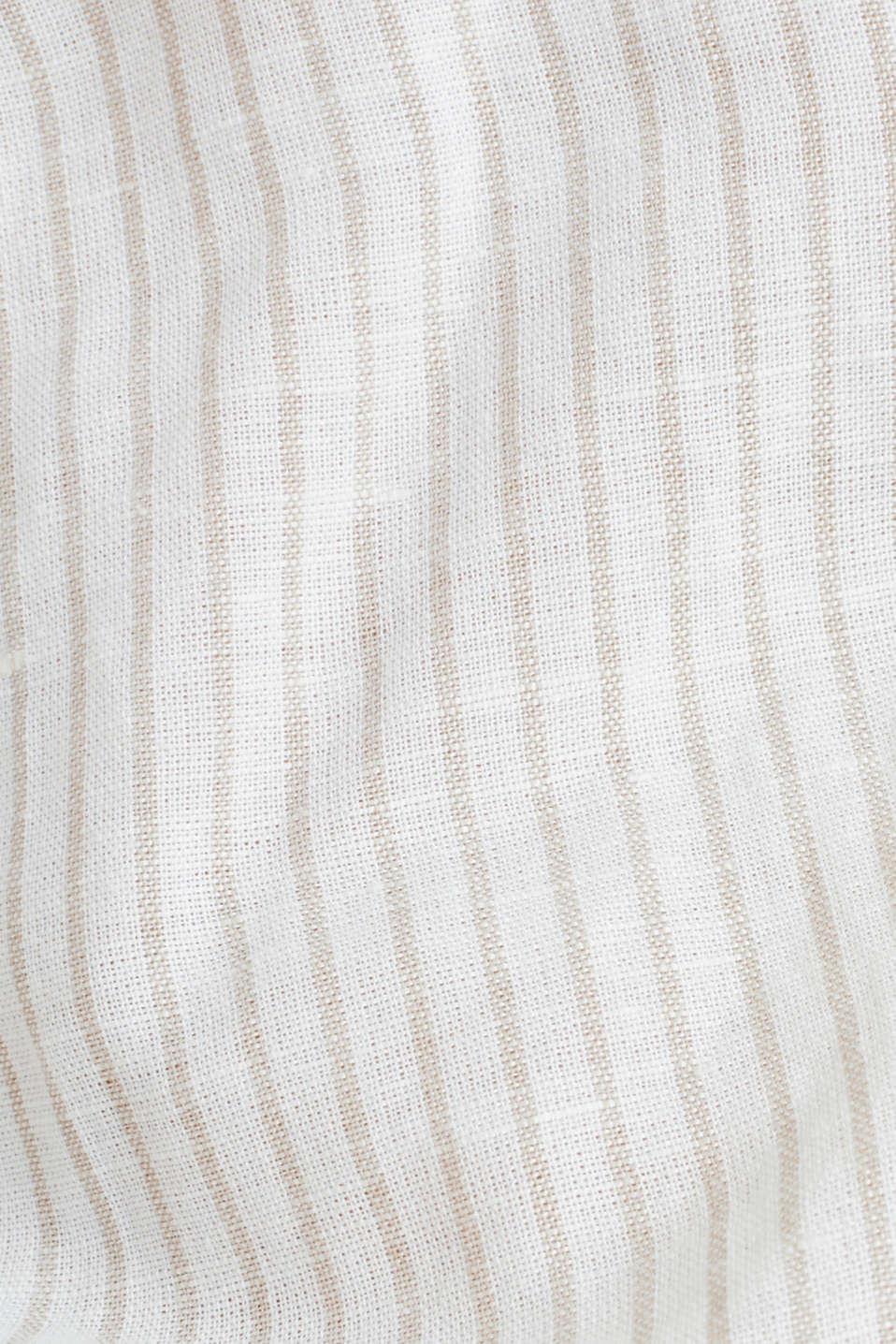 Linen blend: striped blouse, BEIGE, detail image number 3