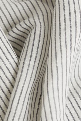 Linen blend: striped blouse, NAVY 4, detail