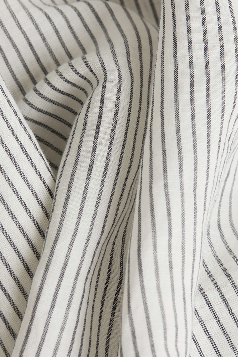 Linen blend: striped blouse, NAVY 4, detail image number 4
