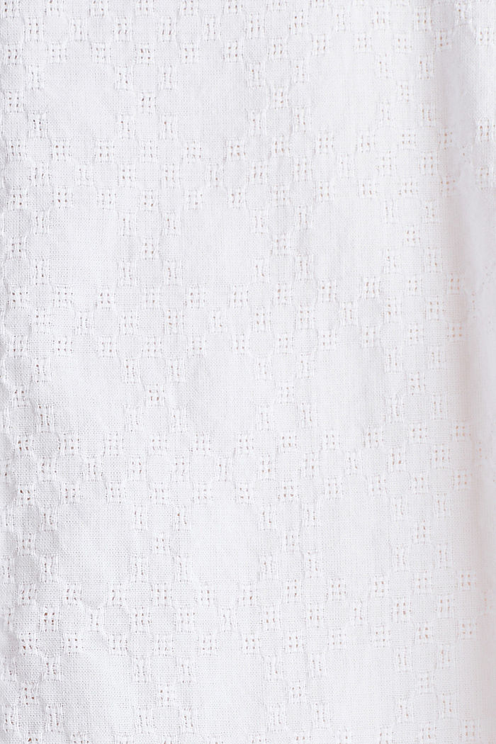 Lace blouse made of 100% cotton, WHITE, detail image number 4