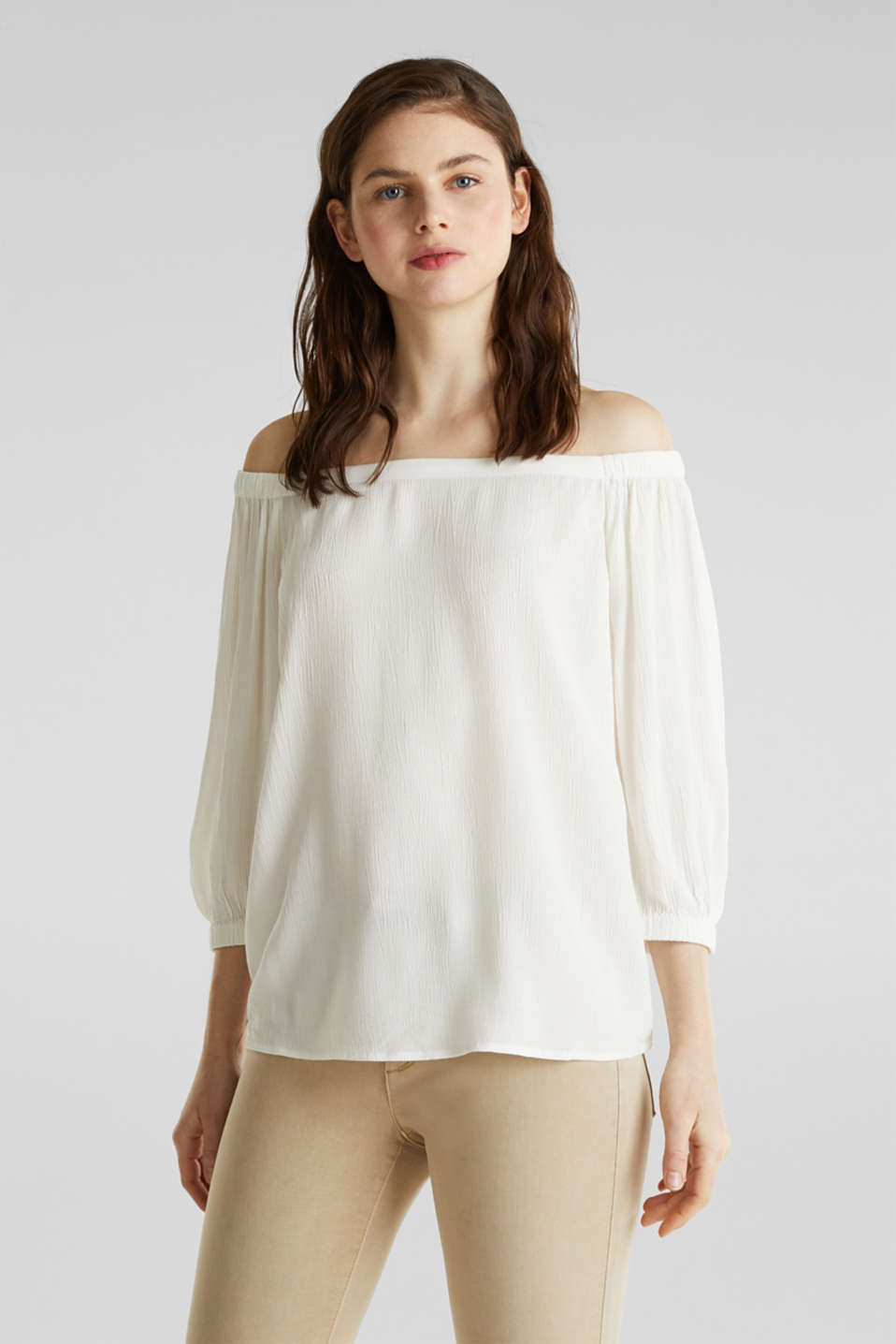 Esprit - Carmen blouse containing LENZING™ ECOVERO™