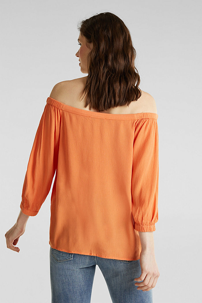 Carmen blouse, LENZING™ ECOVERO™, RUST ORANGE, detail image number 3