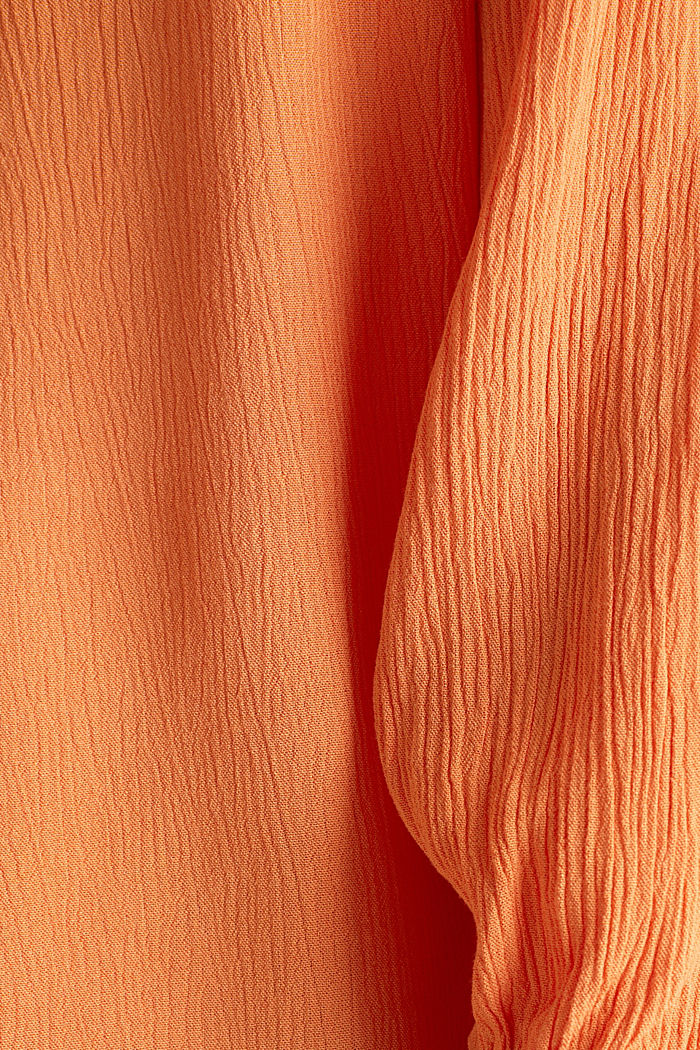 Carmen blouse, LENZING™ ECOVERO™, RUST ORANGE, detail image number 4