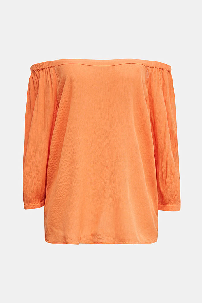 Carmen blouse, LENZING™ ECOVERO™, RUST ORANGE, overview